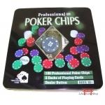 Jogo para Poker 100 fichas (lata)