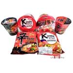 Kit macarrão instantâneo Kimchi -6 itens
