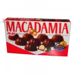 Biscoito Crocantes recheados com chocolate-Meiji Macadamia