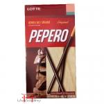 Biscoito palitos envolvidos com chocolate tradicional