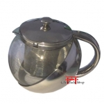 Bule para Chá Inox/Vidro