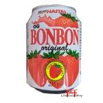 Delicioso suco de morango com pedaços da fruta