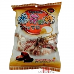 Marshmallow com recheio sabor de chocolate