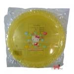 Prato Amarelo com desenho da Hello Kitty (02 unid)