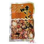 Salgadinhos de arroz saborizado, grãos variados