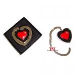 Suporte Porta Bolsa Metal retrátil coração